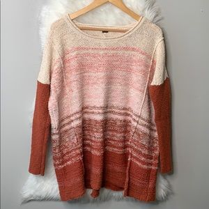 Free People • Oversized ombre knit sweater